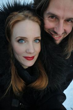 Cutest couple in Metal. Simone Simons (Epica) and Oliver Palotai (Kamelot).