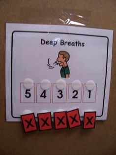 Visual for Calming- the act of moving the pieces could also really distract them and bring them down- small copy to carry around on lanyard maybe (Classroom Management) Coping Skills, Social Skills, Classroom Behavior Management, Behavior Plans, Behavior Charts, Behaviour Management, Conscious Discipline, Behavior Interventions, School Social Work