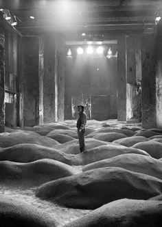 Director Andrei Tarkovsky on the set of 'Stalker'