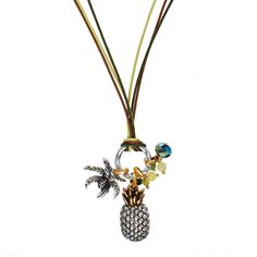 A fruity new necklace design from Hultquist… Introducing the Hultquist Jewellery Tropical Gold and Silver Pineapple Long Cord Necklace. This statement tropical fruit necklace from Hultquist Jewellery features a long slim cord necklace in khaki, tan, and lime with a scrumptious gold and silver plated pineapple pendant charm, gorgeous green glass [...]