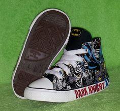 Converse Chuck Taylor All Star Hi Toddler Boys DC Comics Dark Knight Size 8 EUC #Converse #Athletic