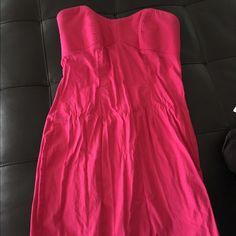 Hot Pink Mini Dress Hot Pink strapless mini dress. Dresses Mini