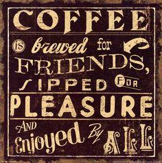 Coffee Quote II Art Print by Pela Studio at Urban Loft Art