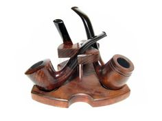 New Wooden Pipes Stand-Showcase Rack Holder for 3 Tobacco Smoking Pipes . Handmade .....LIMITED Edition..... The Best Price Offer In Fashion Pipes!