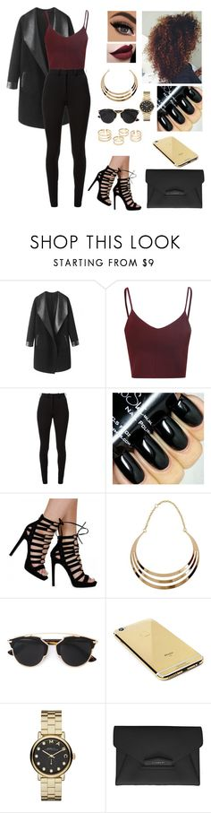 """Untitled #434"" by aysuyucel ❤ liked on Polyvore featuring Columbia, Glamorous, Victoria Beckham, Christian Dior, Goldgenie, Marc by Marc Jacobs and Givenchy"