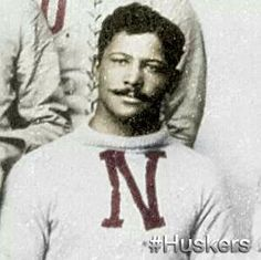 George Flippin (man who has no fears)was the first black athlete in Nebraska history. He was a running back from 1891 - 1894.