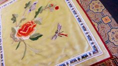 Chinese Antique Silk Embroidery Tapestry by seasidecollectibles