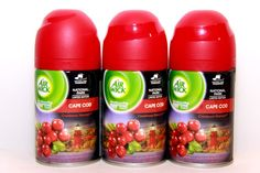 3 Air Wick Freshmatic Ultra Automatic Spray Refill Cape Cod Cranberry Harvest ♫❤ #AirWick
