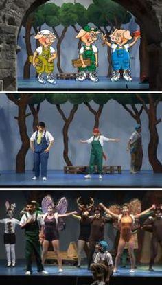 """Musical infantil """"Els tres porquets. Uneix-te a l'aventura"""", al Teatre Victòria BCN (maig 2013)"""