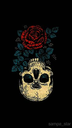 Skull and Rose wallpaper by sampa_star - ef - Free on ZEDGE™