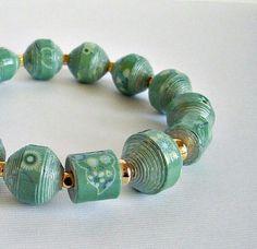 Paper beads bracelet | Beads | Pinterest