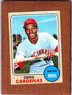 1968 Topps Baseball Set Chico Cardenas Cincinnati Reds