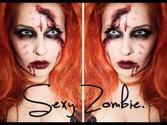 Quick & easy- sexy Halloween Zombie makeup tutorial.