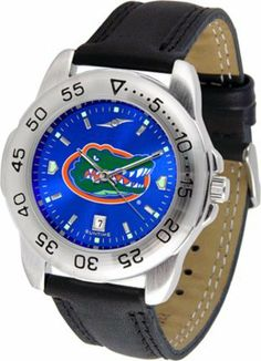 Florida Gators Sport AnoChrome Men's Watch with Leather Band by SunTime. $53.64. This handsome, eye-catching watch comes with a genuine leather strap. A date calendar function plus a rotating bezel/timer circles the scratch-resistant crystal. Sport the bold, colorful, high quality NCAA Florida Gators logo with pride.The AnoChrome dial option increases the visual impact of any watch with a stunning radial reflection similar to that of the underside of a CD. Perceived value is i...