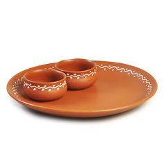 Cultural Concepts Terracotta Snacks Serving Platter Brown,Coffee & Tea Sets