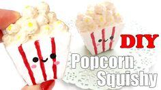 DIY Mini Popcorn Squishy Tutorial (Make Up Sponge)