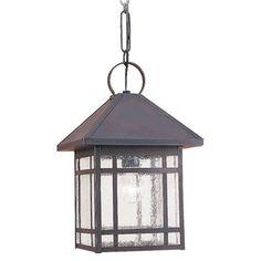 Sea Gull Lighting 60010-71 Largo Outdoor Pendant, Antique Bronze
