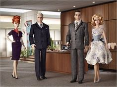 Mad Men Barbies