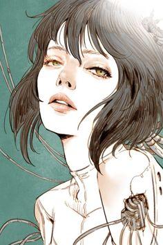 Ghost in the shell, Kyoung Hwan Kim on ArtStation at https://www.artstation.com/artwork/r4Nam