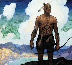 N.C. Wyeth for The Last of the Mohicans (James Fenimore Cooper) Published in 1942, Charles Scribner's Sons