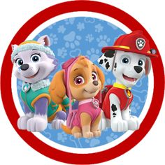 Paw Patrol in Red and Blue: Free Printable Party Kit. - Oh My Fiesta! in english Sky Paw Patrol, Paw Patrol Party, Paw Patrol Birthday, Paw Patrol Navidad, Cumple Paw Patrol, Paw Patrol Marshall, Paw Patrol Weihnachten, Imprimibles Paw Patrol, Paw Patrol Christmas