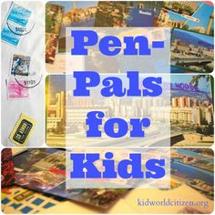 Pen Pals for Kids- 4 ways to get penpals around the world. I always had pen-pals when I was a kid; so great for reading, writing, geography lessons, learning about other cultures! Kids Writing, Writing Activities, Activities For Kids, Writing Skills, Writing Practice, Letter Writing, Nelson Mandela For Kids, Around The World Theme, Global Citizenship