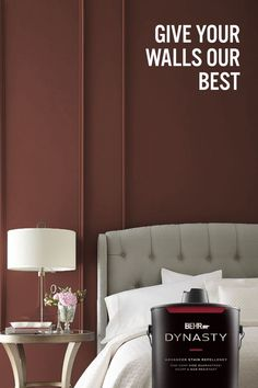 Introducing BEHR DYNASTY™ Interior Paint. It's stain repellent, scuff resistant, fast-drying, and has one-coat coverage.* It's basically the MVP of paint. And by MVP, we mean Most Valuable Paint.🎨: Spice PPU2-18 *Limitations apply. Visit behr.com for more information.