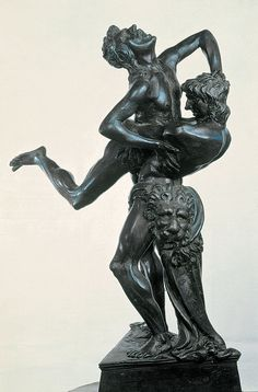 Antonio del Pollaiuolo - Hercules and Antaeus, 1475. Bronze