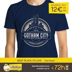 """(EN) """"Best Place to Live"""" designed by the astounding Manospd is our NEW T-SHIRT. Available 72 hours order yours today for only 12/$14/10 on WWW.WISTITEE.COM (FR) """"Best Place to Live"""" créé par l'incroyable Manospd est notre NOUVEAU T-SHIRT. Disponible 72 heures réservez-le dès maintenant pour seulement 12 sur WWW.WISTITEE.COM  #Gotham #GothamCity #Batman #ChevalierNoir #DarkKnight #comics #DCComics #Manospd #wistitee #design #tshirt #limitededition #mypushup http://ift.tt/1GHJQNK"""