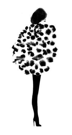 WOMAN N BLACK Art Print