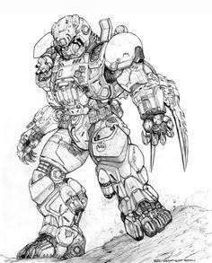 RIFTS COUGAR POWER ARMOR by ChuckWalton on DeviantArt