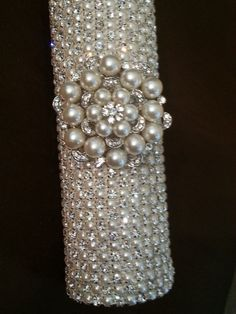 Hey, I found this really awesome Etsy listing at https://www.etsy.com/listing/114644067/rhinestone-pearl-bridal-bouquet-holder
