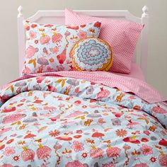 Kids' Bedding: Girls' Tiny Dancer Multi-colored Cotton Bedding in Sarajo Frieden