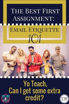 Email etiquette is a necessary skill for middle and high school units. Teaching business writing can be fun, engaging, and rewarding. Read about why, when, and how to teach email etiquette in your cla (Computer Tech High Schools) Business Education Classroom, High School Classroom, English Classroom, High School Students, Classroom Ideas, Classroom Charts, Ela Classroom, English Teachers, Classroom Resources