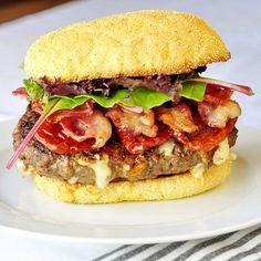 Chipotle Jack Bacon Burgers - just one of over 60 amazing Superbowl party food ideas including many other burgers as well as ribs, wings pizzas and much, much more. Check out our newest board for all the photos and recipes.