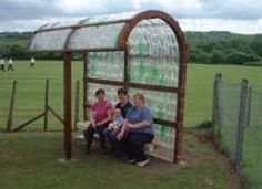 Plastic Bottle Greenhouse & Outdoor Classrooms    bus stop shelter    Waste education packages that turn your waste into
