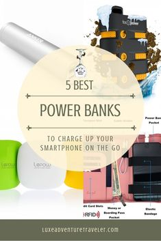 No matter whether you're headed for a rugged outdoor adventure or your next city break, these are the best power banks for charging up your phone on the go. Packing Tips For Travel, Travel Advice, Travel Checklist, Packing Lists, Travel Necessities, Travel Essentials, Travel Gadgets, Travel Hacks, Travel Ideas
