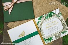"""WedLuxe: styled shoot inspired by """"The #Hobbit"""" - #wedding #invitation by PALETTERA Custom Correspondences"""