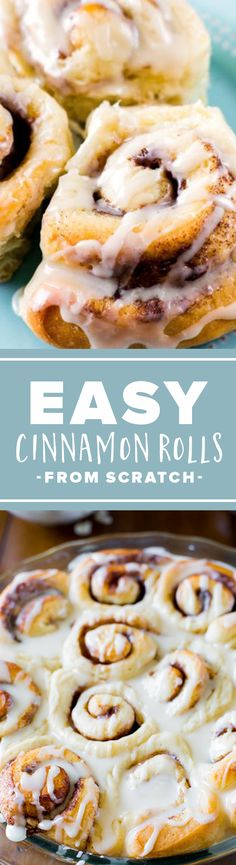 Easy Cake : My BEST cinnamon rolls of al. - Easy Cake : My BEST cinnamon rolls of all time – from scratch, great beginner& Cake Recipes - Cinnamon Rolls From Scratch, Best Cinnamon Rolls, Yummy Treats, Delicious Desserts, Yummy Food, Sweet Treats, Baking Recipes, Cake Recipes, Dessert Recipes