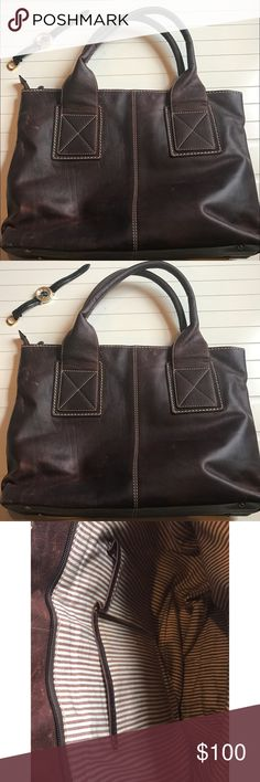 Vintage very nice Genuine leather tote bag 💼 This bag is beautiful, sturdy and in perfect condition. All Genuine leather Bags Totes