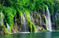 rock formations, dream vacations, national parks, nature photography, shades of green, plitvic lake, natural beauty, beauti waterfal