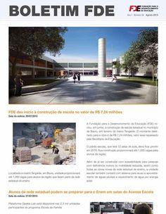 Informação presta: leia os arquivos do blog: FDE deu início a construção de escola no valor de ...