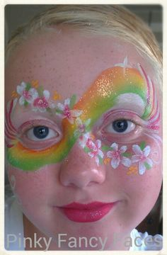Rainbow flower mask