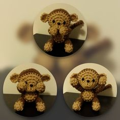 NOTE: This is the crochet PATTERN for the monkey, but not the actual item!  The crochet monkey is 4 inches tall and is done with the basis crochet techniques of chaining, slip stitch, single crochet and half double crochet. Youll be able to download the PDF file as soon as you have completed your purchase. If you run into any problems while downloading the pattern, please refer to the link below.  https://www.etsy.com/help/article/3949  NOTE: This pattern is for personal use ONLY!  ~~ If you…