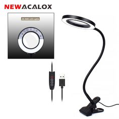 This light is great for those with failing eyesight or for any hobbyist working with small items. #green #ecofriendly #healthyplanet #environment #gifts #lifestyle #greenhome #gogreen #ourplanet Usb Lamp, Led Desk Lamp, Table Lamps, Clamp Lamp, Office Lamp, Magnifying Glass, Flexibility, Reading, Lights