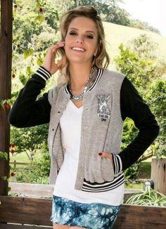 Jaqueta College Preto Miss Masy Young - Miss Masy c884f42d1d36e