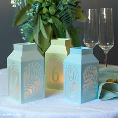 Make Your Own Winter Paper Lanterns - Lia Griffith Diy Paper, Paper Crafts, Diy Crafts, Paper Lantern Making, Tissue Paper Lanterns, Origami Christmas Ornament, Paper Succulents, Lantern Craft, How To Make Lanterns
