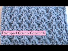 ▶ Fancy Stitch Combo - Dropped Stitch Scrunch - YouTube