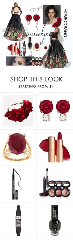 """""""Sherri Hill"""" by total-nicole ❤ liked on Polyvore featuring Sherri Hill, Rock 'N Rose, Jemma Wynne, D'Yach, Kat Von D, Laura Geller, Maybelline and Everlasting Gold"""