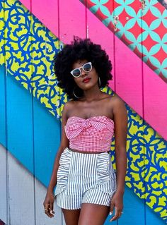 Girl Blog, Mixing Prints, Black Girls, Black Lady, Summer Of Love, Spring Summer Fashion, Style Me, Natural Hair Styles, Personal Style